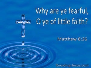 Matthew 8:26 Why Are Ye Fearful O Ye Of Little Faith (utmost)08:12