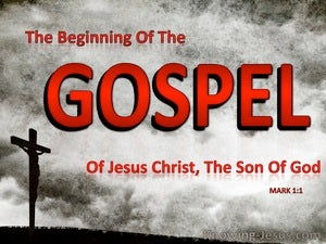 Mark 1:1 The Beginning Of The Gospel Of Jesus Christ (red)