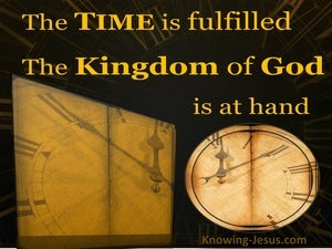 Mark 1:15 The Time Is Fulfilled yellow