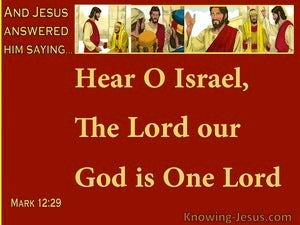Mark 12:29 The Lord Our God Is One Lord (red)