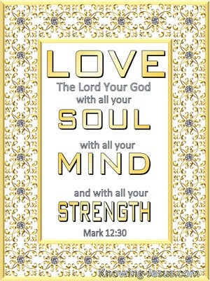 Mark 12:30 Love The Lord With Heart Soul, Mind and Strength (yellow)