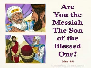 Mark 14:61 Are You The Messiah The Son Of God (purple)
