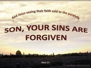 Mark 2:5 Your Sins Are Forgiven (cream)