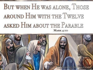 Mark 4:10 When He Was Alone The Twelve Asked Him About The Parable (brown)