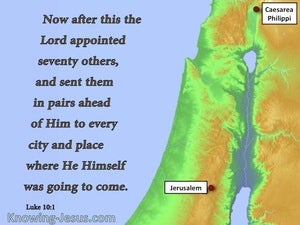 Luke 10:1 He Appointed Seventy Others blue