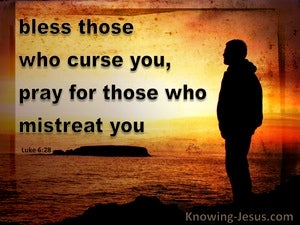 Luke 6:28 Bless Those Who Curse You And Pray (orange)
