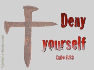Luke 9:23  Deny Yourself And Take Up Your Cross red