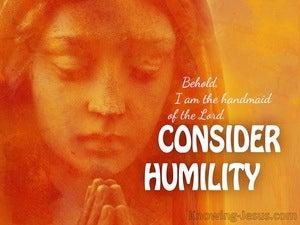 Consider Humility (devotional) (orange) - Luke 1:28