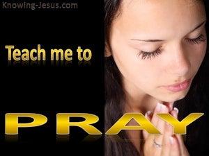 Teach Me To Pray (devotional) (black) - Luke 11:1