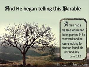 Luke 13:6 The Barren Fig Tree : He Found No Fruit (brown)