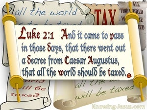 Luke 2:1 All The Word Should Be Taxed (cream)