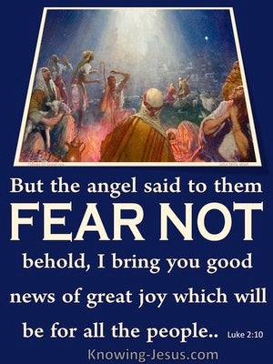 Luke 2:10 Tidings Of Great Joy To All People (blue)