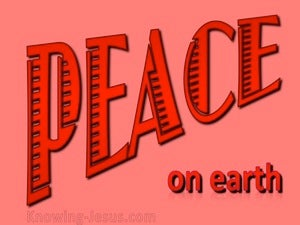 Luke 2:14 Peace on Earth (red)