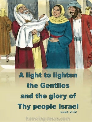Luke 2:32 A Light To Lighten The Gentiles (beige)