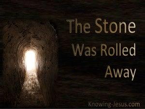 The Stone Was Rolled Away (devotional) (brown) - Luke 24-2