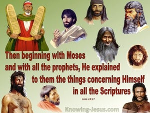 Luke 24:27 And Beginning With Moses And All The Prophets (green)