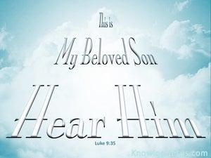 Trust Me Alone (devotional) (blue) - Luke 9:35