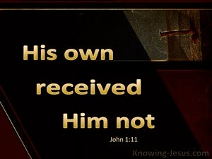 John 1:11 His Own Received Him Not gold