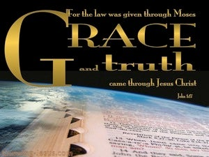 John 1:17 Grace And Truth Came Through Christ (gold)