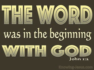 John 1:2 He Was In The Beginning With God brown