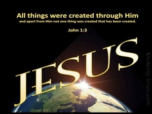 John 1:3 All Was Created By Him yellow