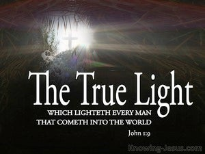 John 1:9 Jesus The True Light (black)