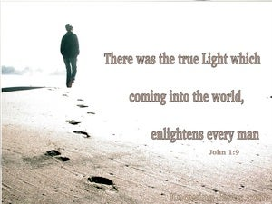 John 1:9 Jesus The True Light (white)
