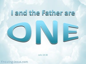 John 10:30 I And The Father Are One blue