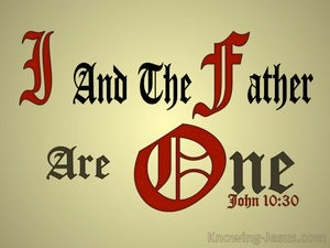 John 10:30 I And The Father Are One gold