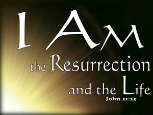 John 11:25 The Resurrection And The Life (brown)