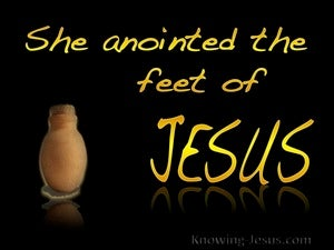John 12:3 She Anointed The Feet Of Jesus yellow