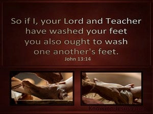 John 13:14 Wash One Anothers Feet (brown)