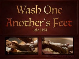John 13:14 Wash One Anothers Feet red
