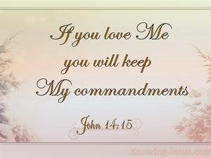 "John 14:15 ""If you love Me, you will keep My commandments."