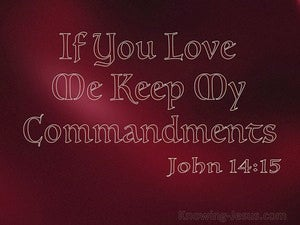 John 14:15 In You Love Me Keep My Commandments red