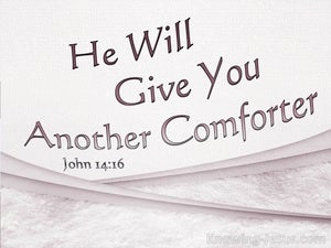 John 14:16 He Will Give You Another Comforter pink