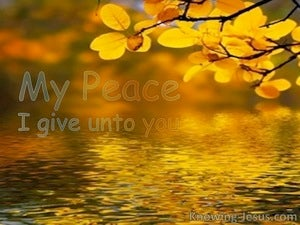 John 14:27 My Peace I Give To You yellow