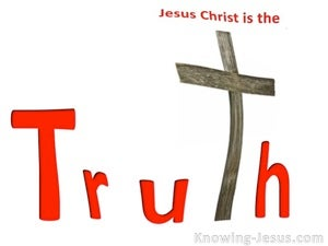John 14:6 Jesus Is The Truth (white)