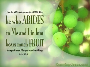 John 15:5 He Who Abide In Me Bears Much Fruit green
