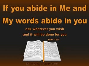 John 15:7 Abide In Me And I In You brown