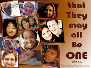 John 17:21 That They May Be One brown