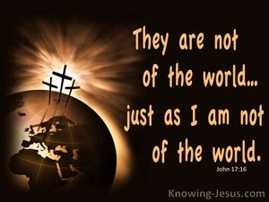 John 17:16 Not Of This World brown