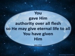 John 17:2 You Gave Him Authority Over All Flesh blue