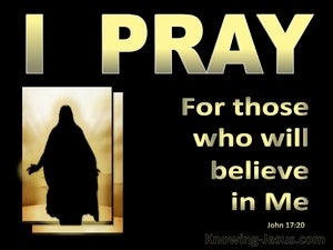 John 17:20 Jesus Prays For All Who Will Believe In Him gold