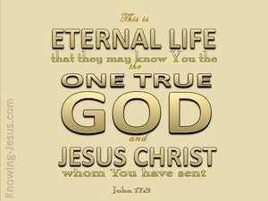 John 17:3 This Is Eternal Life beige