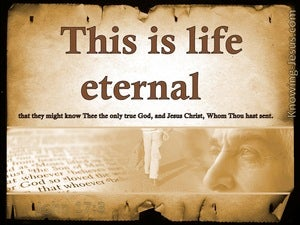 Life Eternal devotional - John 17:3