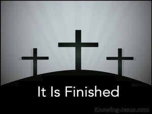 John 19:30 It Is Finished:Telestai black