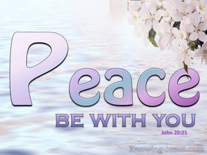 John 20:21 Peace, As The Father Send Me I Send You pink