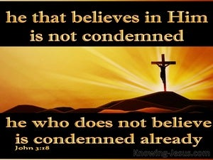 John 3:18 He That Believes Is Not Condemned gold