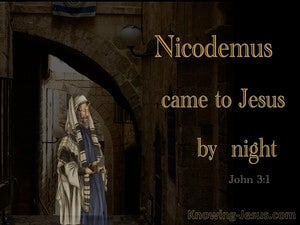 John 3:2 Nicodemus Came To Jesus By Night orange